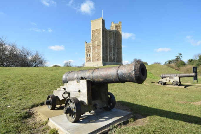 Cannon at Orford Castle