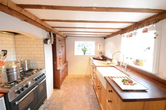 Kitchen at Keep Cottage - its stocked with cooking basics and home from home pots and pans